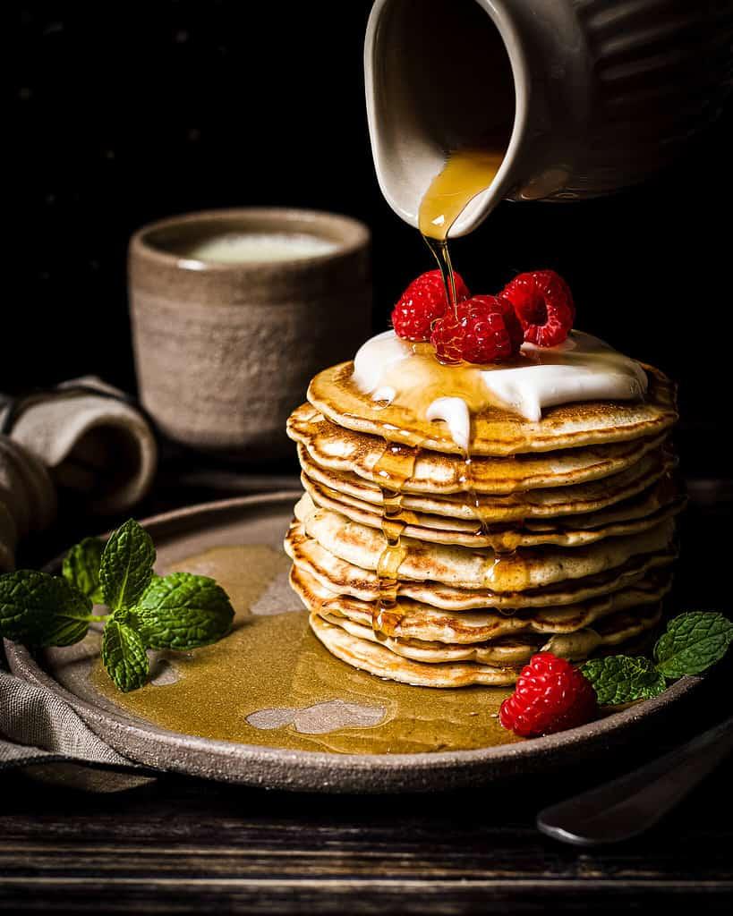 vegan pancake pile