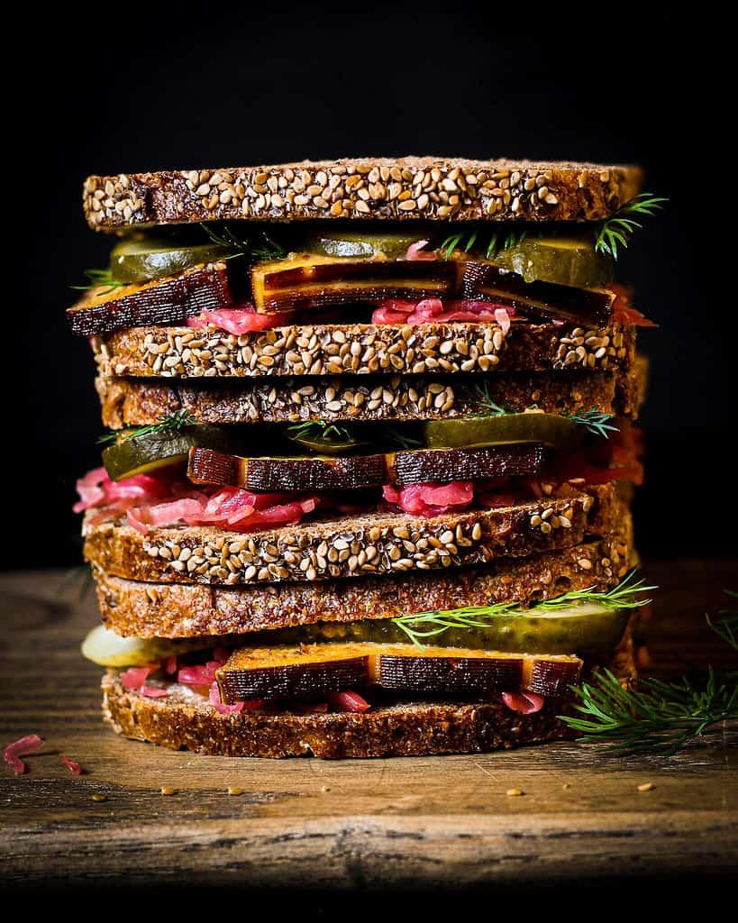 Veganes Sauerkraut Sandwich/ Nina Bolders Food Fotografie