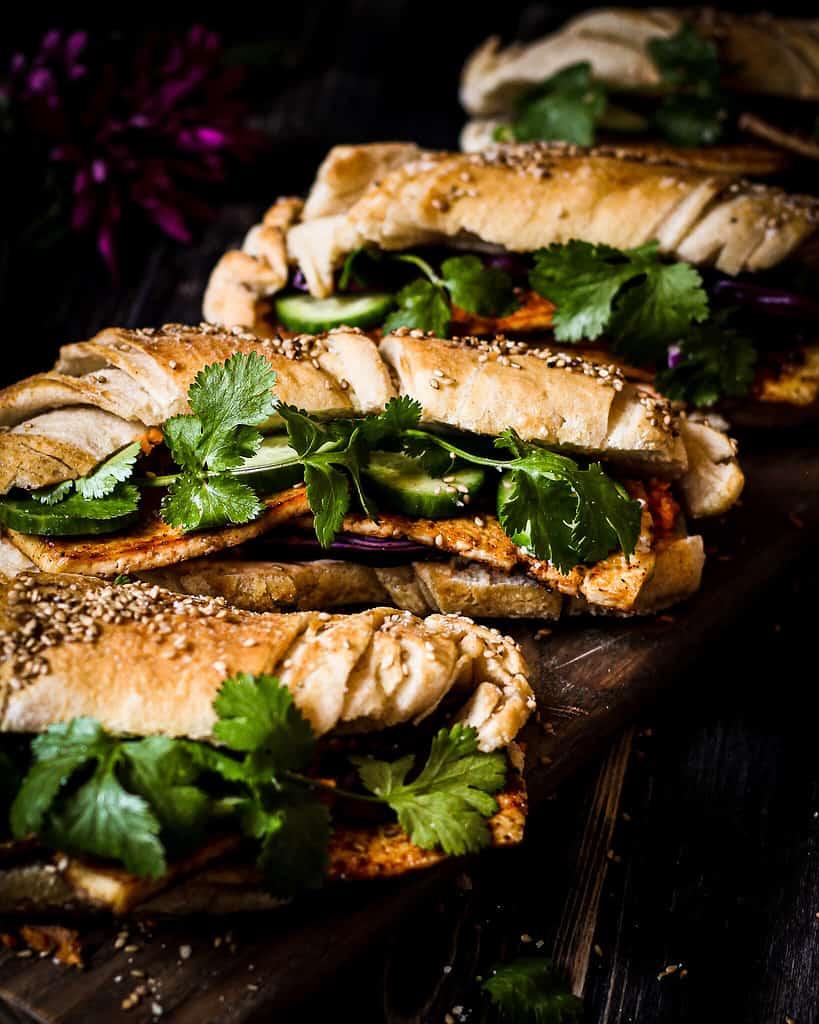 Vegan Banh mi/ Nina Bolders Food Photography